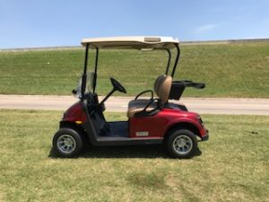 2018 EZGO RXV ELITE 2.0 LITHIUM ION BATTERY INFERNO RED