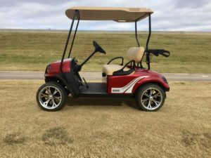 2017 EZGO 72 VOLT A/C ELECTRIC INFERNO RED