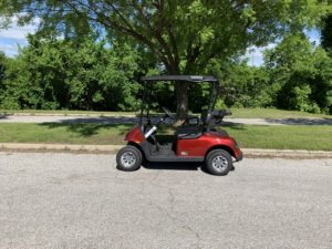 2019 EZGO RXV ELITE 2.0 LITHIUM ION BATTERY INFERNO RED