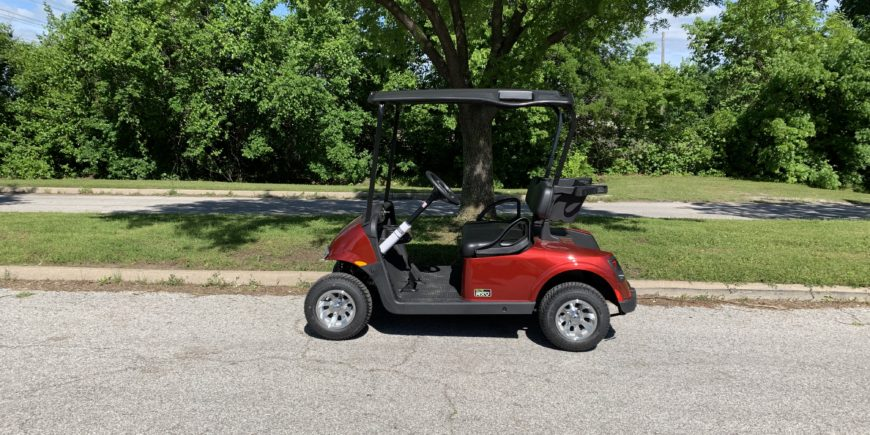 2019 E-Z-GO RXV Elite 2.0 Lithium Ion Battery Inferno Red